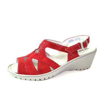 NO29 SUAVE - WEDGE STRAPPY SANDAL - RED