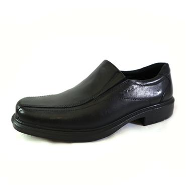 5 ECCO HELSINKI BLACK SLIP ON - BLACK
