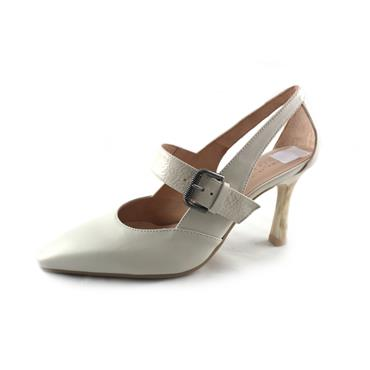 NO3 HIS - POINTED TOE HEEL - WHITE