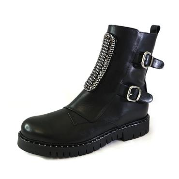 5 MARCO MOREO  BLACK ANKLE BOOT - BLACK