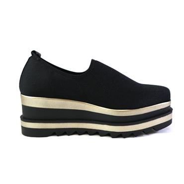 7 MARCO MOREO BLACK STRETCH SLIP ON SHOE - BLACK