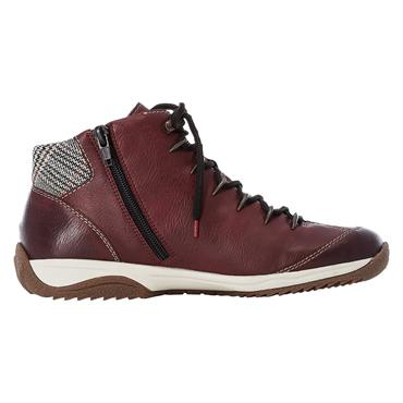 34 RIEKER CASUAL HIGH TOP LACED - WINE