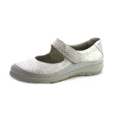 NO10A SUAVE LENA OPEN SHOE WITH STRAP - SILVER