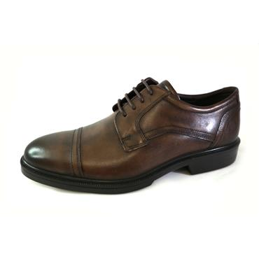 8A ECCO COCOA BROWN LACED SHOE - BROWN