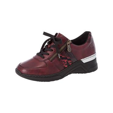 90 RIEKER BOA LACED TRAINER - WINE