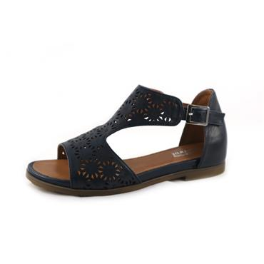 NO4/4A RLC RED LEATHER SANDAL - BLUE