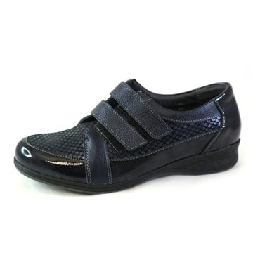 21 SUAVE DOUBLE VELCRO STRAP SHOE - NAVY