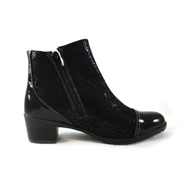 32 SUAVE - ANKLE BOOT W/ BUCKLE - BLACK