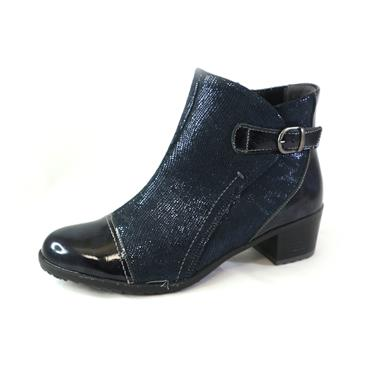 17 SUAVE OCEAN ANKLE BOOT W/ BUCKLE - NAVY