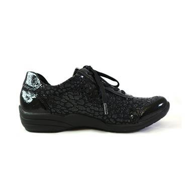 11 REMONTE LARGO LACED TRAINER W/ ZIP - BLACK