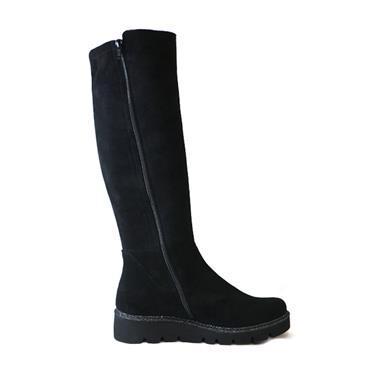 2 REMONTE - BLACK KNEE HIGH BOOT - BLACK
