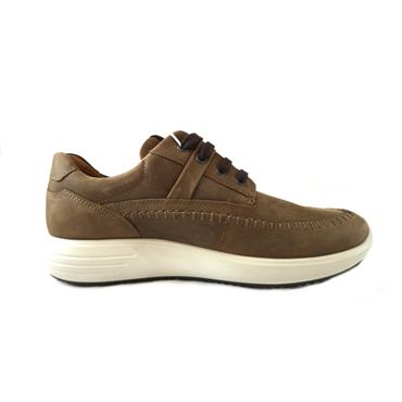 36 ECCO SOFT LACED SHOE - BROWN