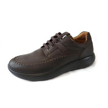 33A ECCO SOFT LACED SHOE - BROWN