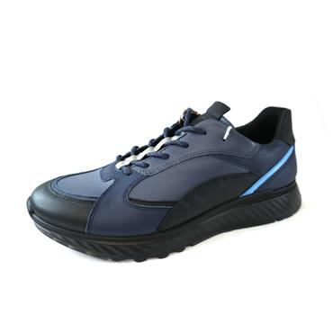 35 ECCO BLACK MARINE LACED SHOE - MULTICOLOURED