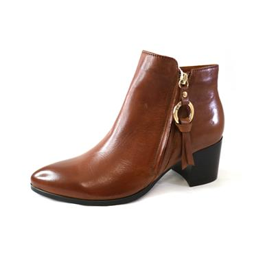 10 RLC DELICE ANKLE BOOT W/ FUR LINING - COGNAC