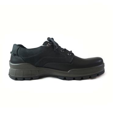 39 ECCO BLACK TRACK WALKING SHOE - BLACK