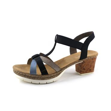 NO44 RIEKER SANDAL WITH HEEL - MULTICOLOURED
