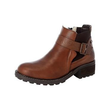 74 RIEKER ANKLE BOOT W/ BUCKLE - BROWN