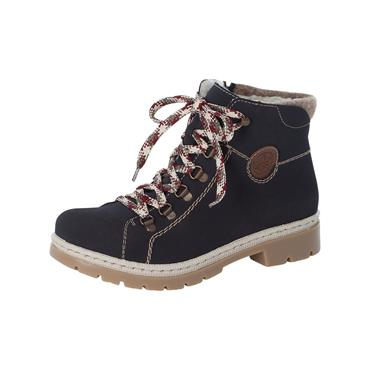 81 RIEKER NAMUR LACED ANKLE BOOT - NAVY