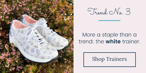 Trend three: More a staple than a trend the white trainer. Shop Trainers.