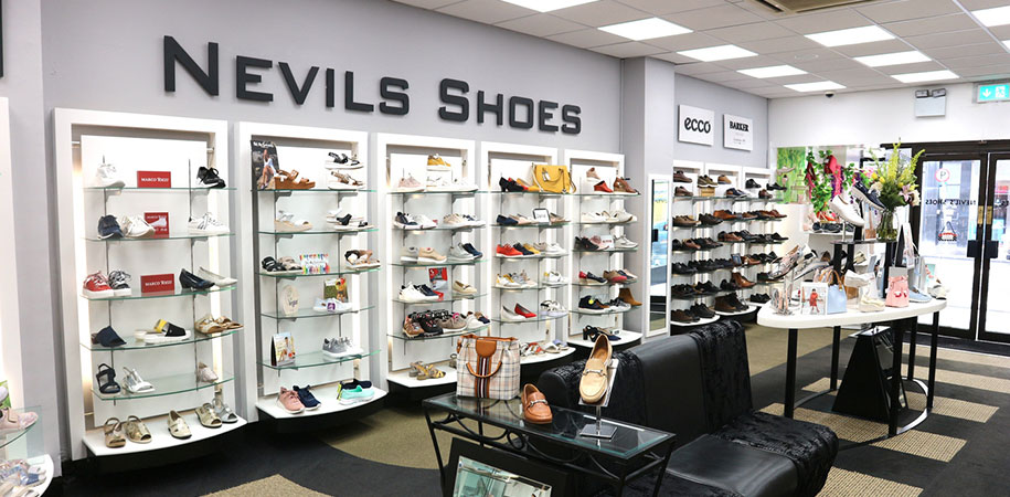 Nevil's Shoes shop interior