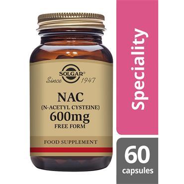 SOLGAR NAC (N-Acetyl Cysteine) 600 mg 60s
