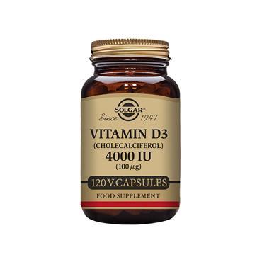 SOLGAR Vitamin D3 (Cholecalciferol) 4000 IU (100 ug) 120s