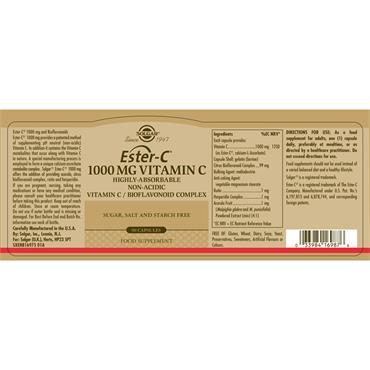 SOLGAR Ester C 1000 mg Vitamin C 90s