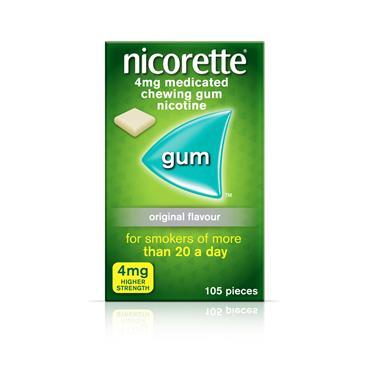 NICORETTE 4MG GUM ORIGINAL 105S