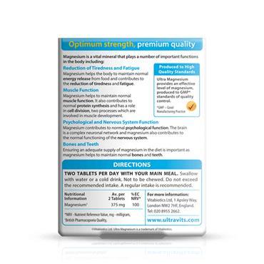 Vitabiotics Ultra Magnesium 375mg Tabs 60's
