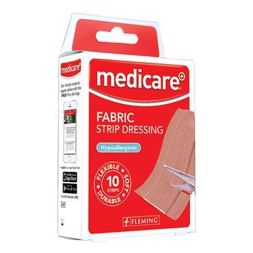 MEDICARE FABRIC STRIP 1M X 6CM (DISPLAY OF 10)