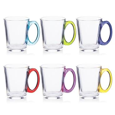NEWGRANGE RAINBOW GLASS MUGS