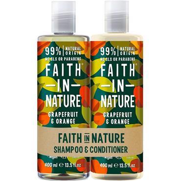 FAITH IN NATURE Shampoo & Conditioner - Grapefruit & Orange