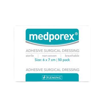 MEDPOREX ADHESIVE DRESSING 6X7CM