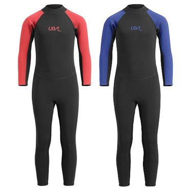 UB Kids Sharptooth Long Wetsuit 7-8 years Black red
