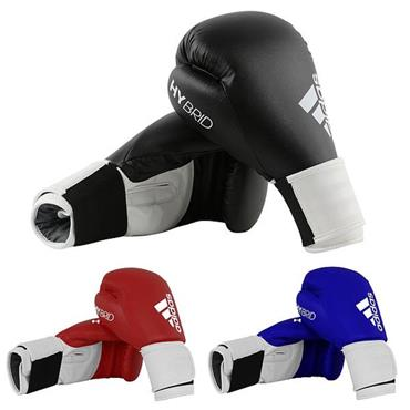 Adidas 100 Hybrid Boxing Gloves 10oz Black
