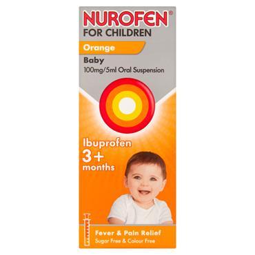 NUROFEN FOR CHILDREN ORAL SUSPENSION ORANGE W/SPOON 200ML