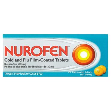 NUROFEN COLD AND FLU TABS 24S