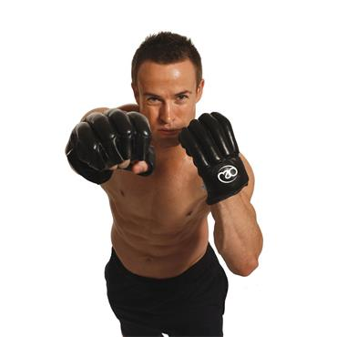 Fitness Mad Leather Fingerless Bag Glove Small Black