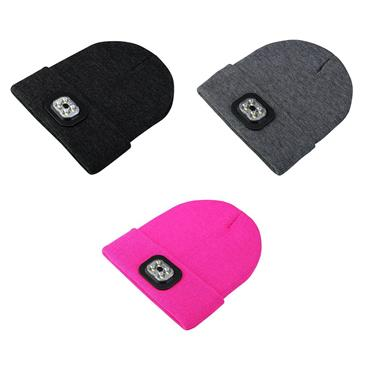 LED Lighted Beanie Hat BLACK
