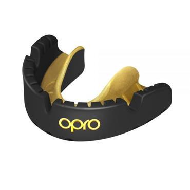 OPRO GOLD Braces Self-Fit GEN4 Mouthguard BLACK