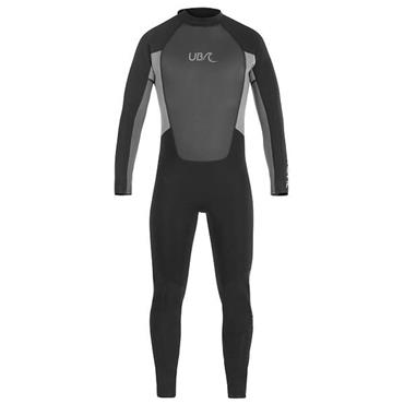 UB Mens Blacktip Mono Long Wetsuit Large Black Grey