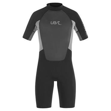 UB Mens Blacktip Mono Shorty Wetsuit XXLarge Black Grey