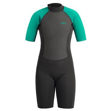 UB Womens Sailfin Shorty Wetsuit Large Black Aqua