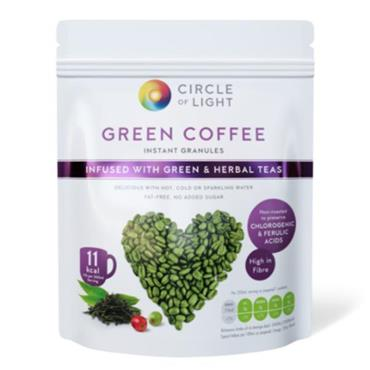 CIRCLE OF LIGHT GREEN COFFEE WITH GREEN AND HERBAL TEAS