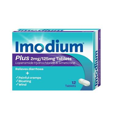 IMODIUM PLUS TABLETS 12