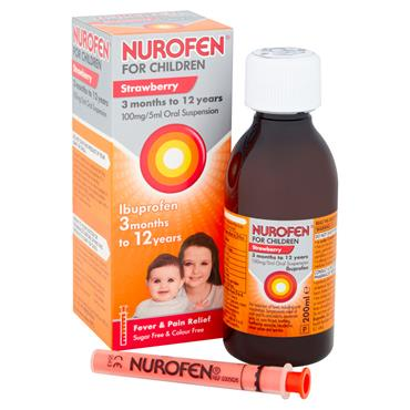 NUROFEN FOR CHILDREN ORAL SUSPENSION STRAWBERRY W/SPOON 200ML
