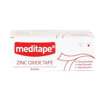 MEDITAPE ZINC OXIDE TAPE 1.25CM X 5M