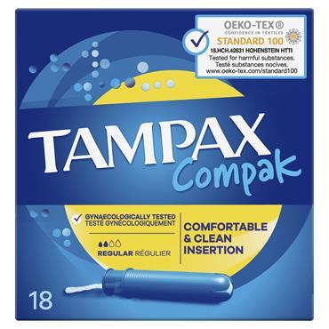 TAMPAX COMPAK REGULAR 18'S