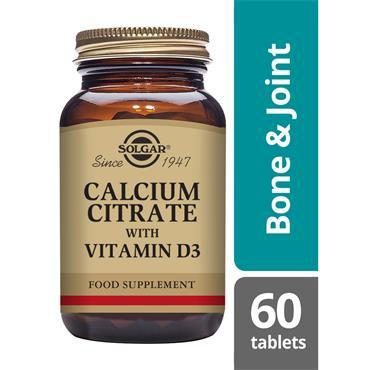 SOLGAR Calcium Citrate with Vitamin D3 60s
